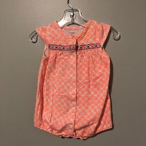 Carter's 6m orange romper